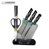 Nice Euro Style Fashion Design Kitchen Kinves Tools 7piece Set Cutting Tools Knife Set Stainless Steel