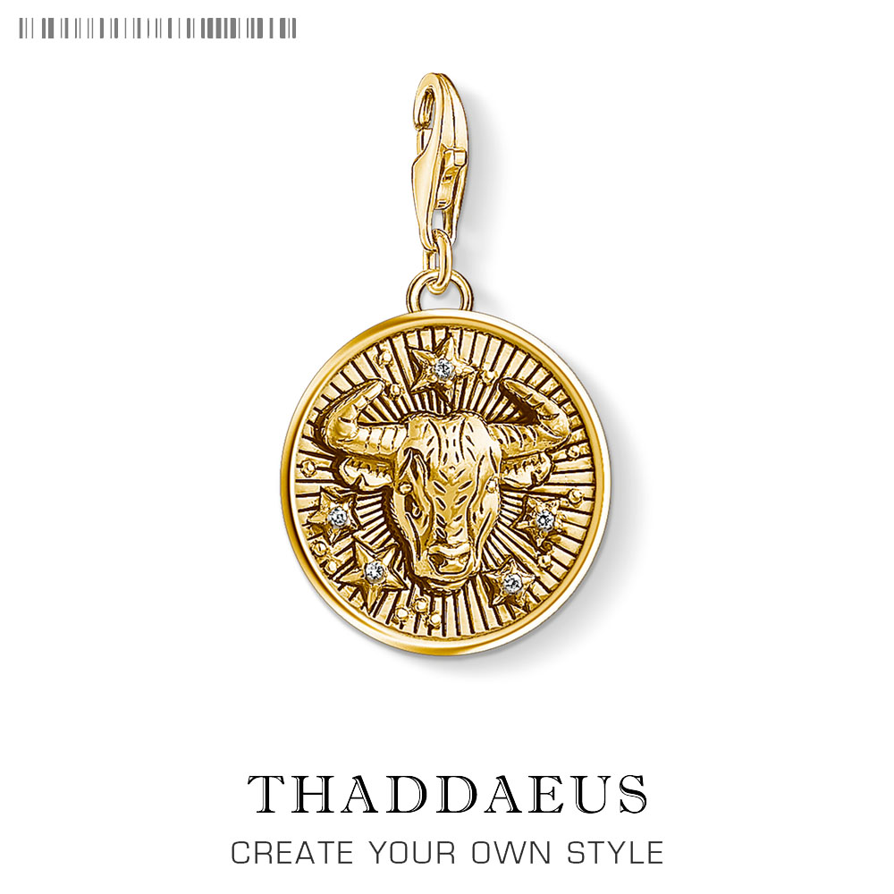Zodiac Sign Taurus Charm Pendant Thomas New Collection Charm Good Jewelry Club Tms Gift In 925 Sterling Silver Fit Bag Bracelet