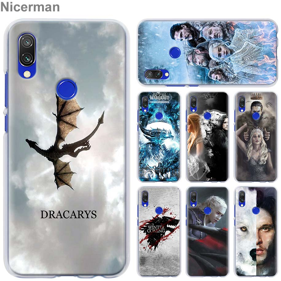 game of throne art Case Cover for Xiaomi Redmi Note 7 Pro 7 6 5 Plus 5A 6A 4X S2 GO Pocophone F1 Phone case Coque image