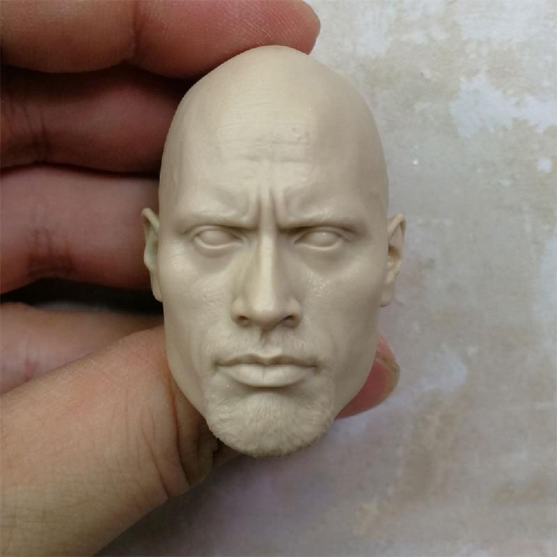 "KUMIK16-71 Dwayne Johnson Male Head Carving 1//6 Scale Fit 12/"" Muscular Figures"