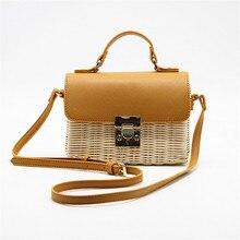New Ladies Shoulder Bag Handmade Straw Weaving 2019 Fashion Square Handbag Bohemian Holiday Beach Messenger