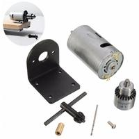 New Arrival 12 24V Lathe Press Motor With Drill Chuck And Mounting Bracket