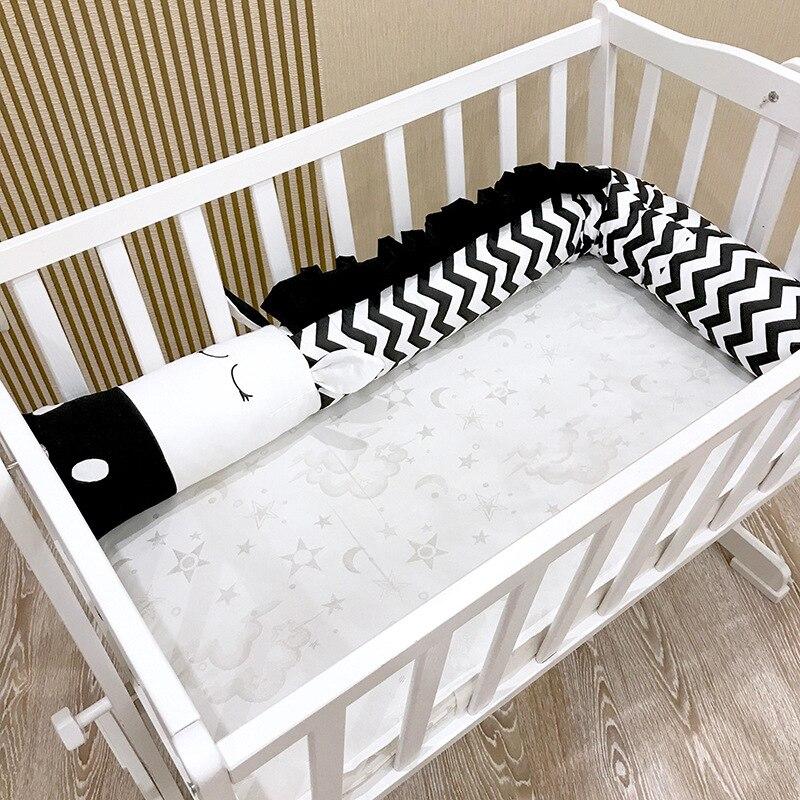 Bébé berceau pare-chocs doux en peluche zèbre jouets en peluche coton lit protecteur nordique longs oreillers pare-chocs pour enfants chambre lit décor 2/3 mètres