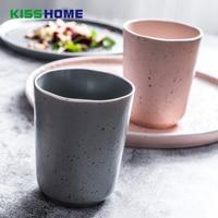10.5x8.8 cm Nordic Minimalistische Keramiek Koffie Cup Creatieve 400 ml Japanse stijl Thee Ketel Paar Water Mok glazuur Punt Container