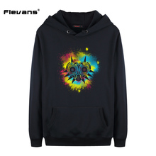 Flevans Spring Autumn Mens Hoodies Long Sleeve Sweatshirt The Legend of Zelda Majora's Mask Printed Casual Hoody Streetwear Tops