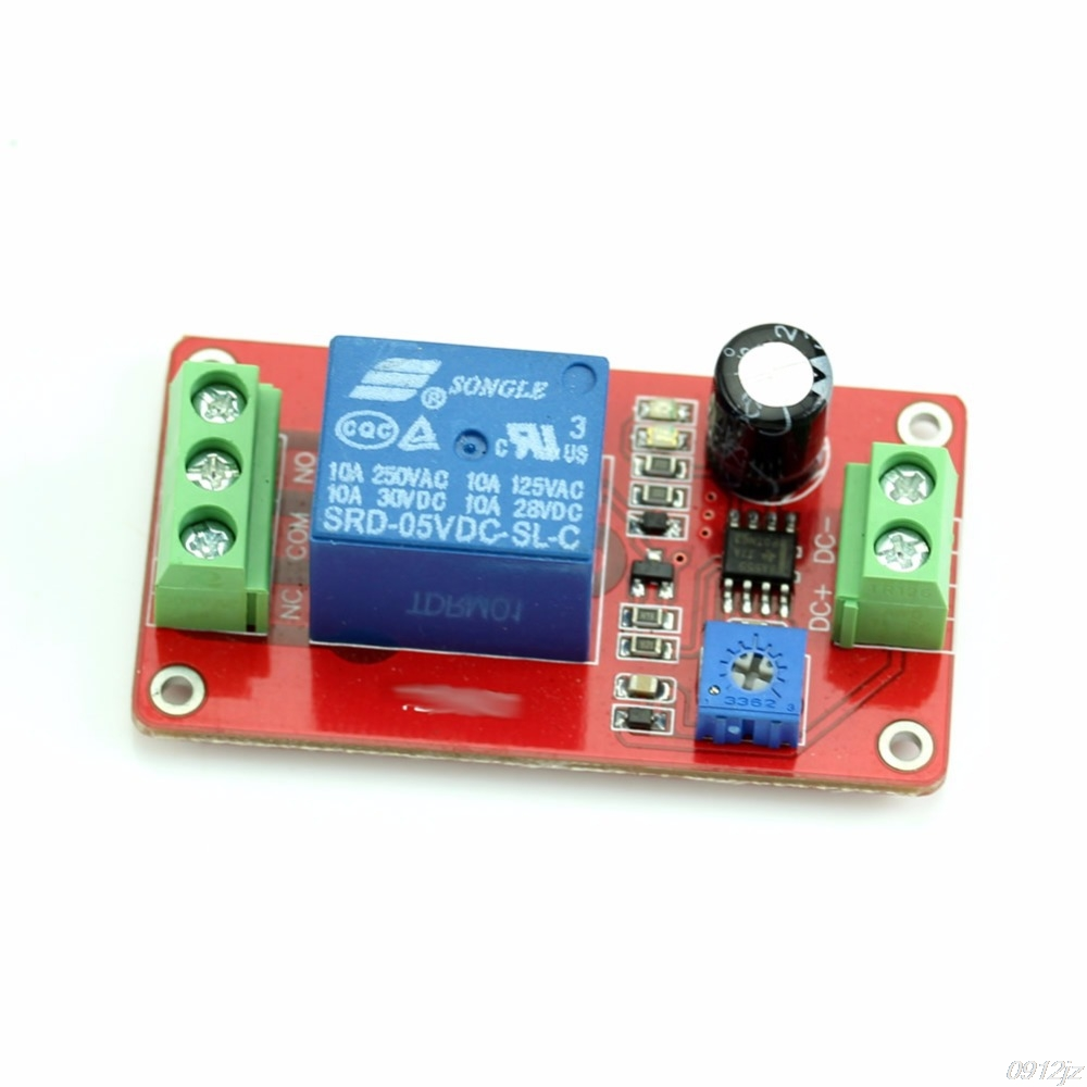 Adjustable Delay Switch 1 to <font><b>20</b></font> Second <font><b>DC</b></font> 12V Delay Timer Relay NE555 image