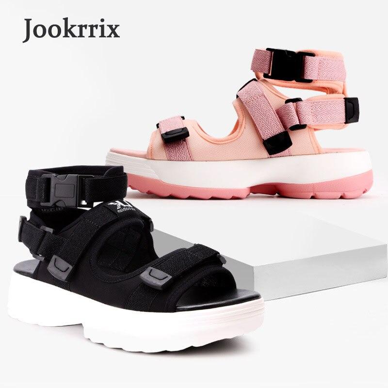 Dame Peep Fille Respirant rose Noir Marque Chaussures 2018 De D'été Rose Loisirs Plate Jookrrix Mode Sandale Doux Noir Plage forme Toe Femmes vnwOm80N