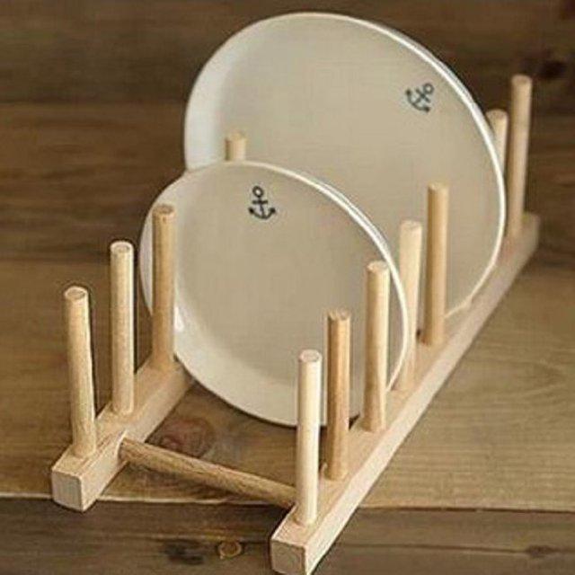 Nueva 1 piezas caliente sólido madera utensilios de cocina plato ...