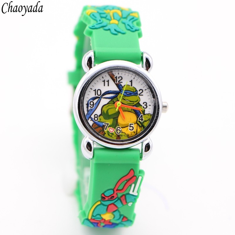цена на Cute Teenage Mutant Ninja Turtles Style Kids Analog Quartz Wrist Watch cartoon 3D watch