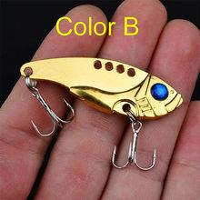 1Pcs Metal VIB Lures 5cm 11g Vibrations Spoon Lure Fishing bait Bass artificial bait cicada lure vib bait 5 colors FA-237