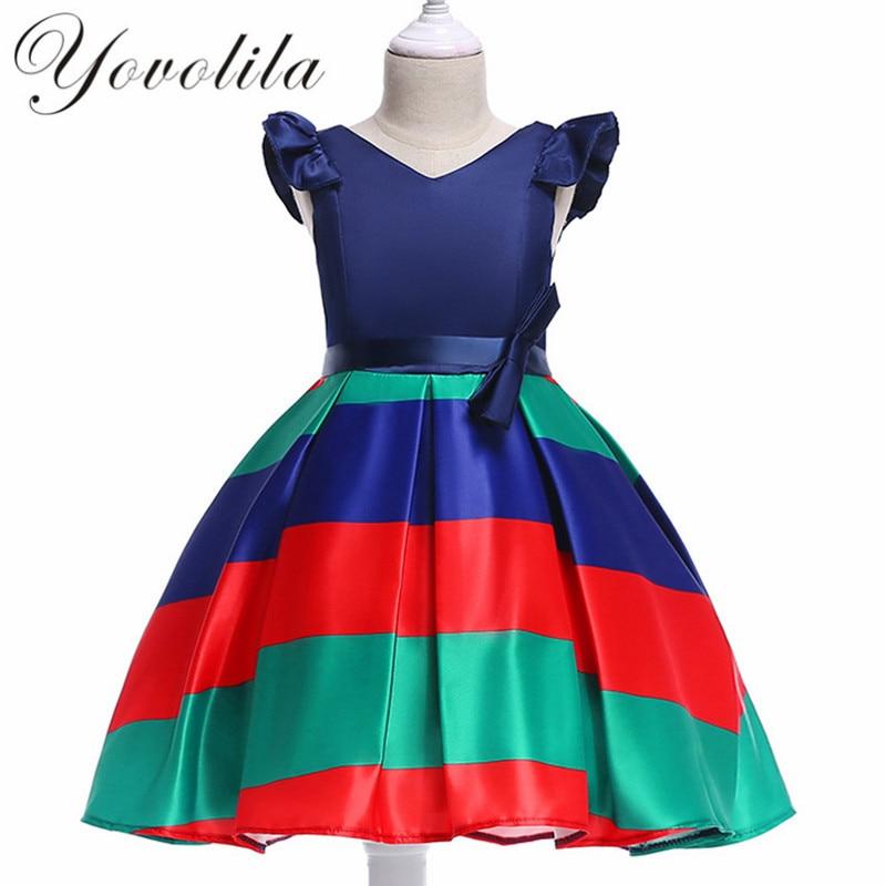 Fashion Dress For Gir European Style Dresses Baby Girls Dresses 2018 Dress Girls Summer Print New Cute Vestido De Festa With Bow ...