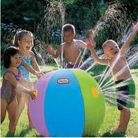 Big size Inflatable spray water ball for kids play ball beech lawn summer swimming Toy with free gift Water balloon