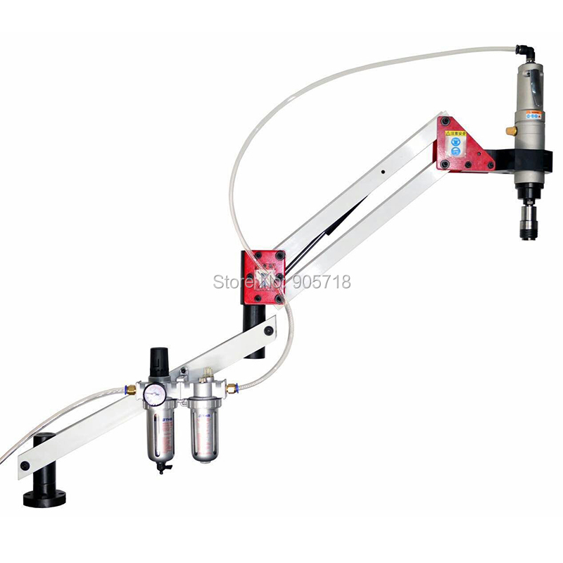 High Quality AT-016-S M3-M16 JIS OR ISO Automatic Pneumatic Tapping Machine Air Tapper Tool with Work Reach 900MM high quality at 012 l m3 m12 automatic pneumatic tapping machine air tapper tool with work reach 1900mm