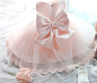 New Summer Pink Children Dresses For Girls Kids Formal Wear Princess Dress For Baby Girl 3