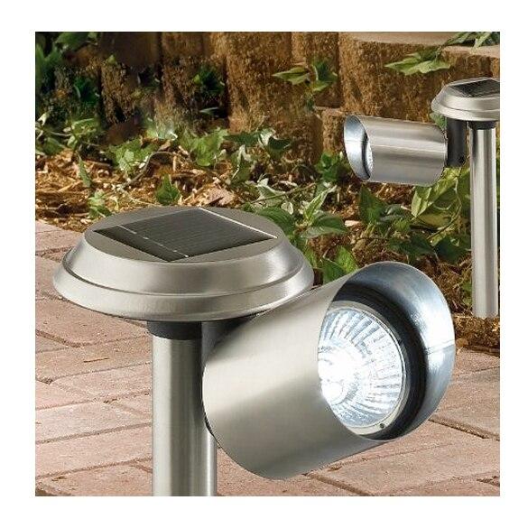 Lampe Projecteur LED Jardin En Acier Inoxydable Lumière Solaire Paysage Lumière 88-M25