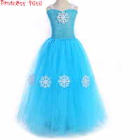 Alsa Snow Queen Princess Girl Tutu Dress Autumn And Winter Christmas Birthday girl Party Dress Decorated With Snowflake