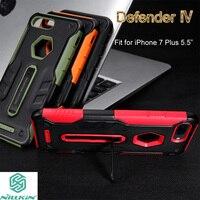 D'origine Nillkin Pour iPhone 8 Plus Cas Defender IV Hybride 2 dans 1 TPU + PC Armure Couverture de Stand pour iPhone 7 Plus 5.5