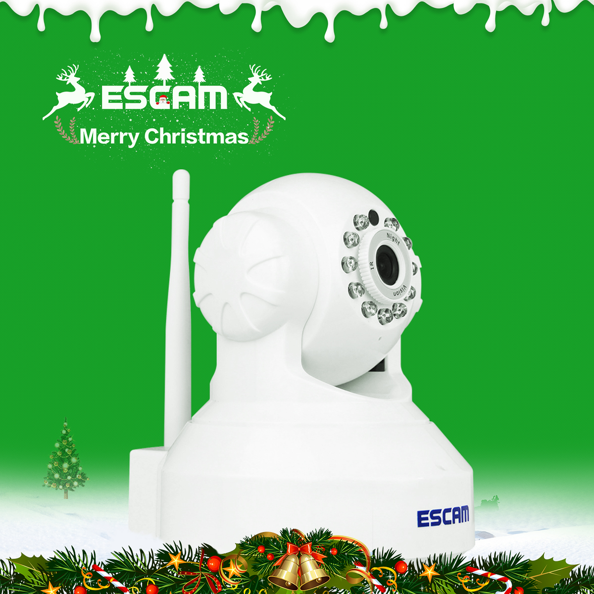Escam QF001 Mini WiFi IP Camera HD 720P CCTV security Camera System P2P IR Cut Two Way Audio Night vision