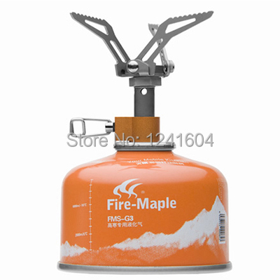ФОТО Fire Maple Outdoor Camping Micro Titanium Gas Stove Lightweight 45g  Portable Folding FMS-300T 2600W Free Shiping