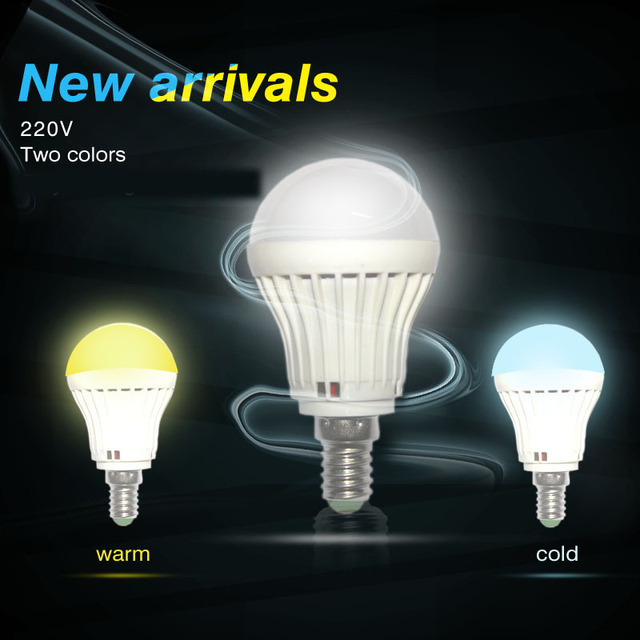 3w 4W 5W 6W 7W 9w 10w 12w 15w 16w E14 LED lamp High brightness lights LED bulb Cold white/warm white AC220V 230V Free shipping