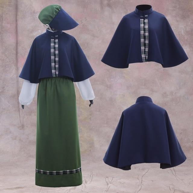 Cosplaydiy Ladies Victorian Carol Singer School Mistress Costume Top