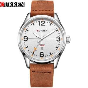 Image 1 - CURREN Einfache mode stil Business Armbanduhr Beiläufige Quarz Männer Uhren Männliche Uhr Relogio Masculino Horloges Mannens Saat