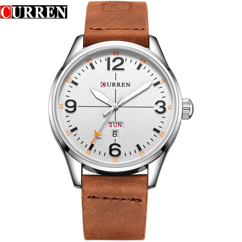 Curren simples estilo de moda negócios relógio de pulso casual quartzo masculino relógios relogio masculino horloges mannens saat