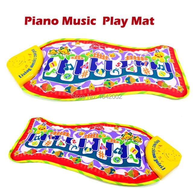 Фортепианная музыка дети играют ковер, маленькая Рыбка Игровой Коврик Для Новорожденного Ребенка, Музыкальные Playmat Игры Ковров Обучающие Игрушки для Детей