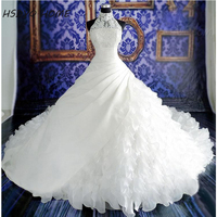2016 White Cheap Wedding Dresses vestidos de noiva Ball Gown Bridal Gowns Zipper Back Luxury Wedding Dress