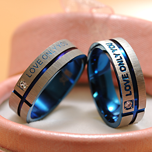 ATGO Fashion Jewelry 316L Stainless Steel Simple Circle Love Only