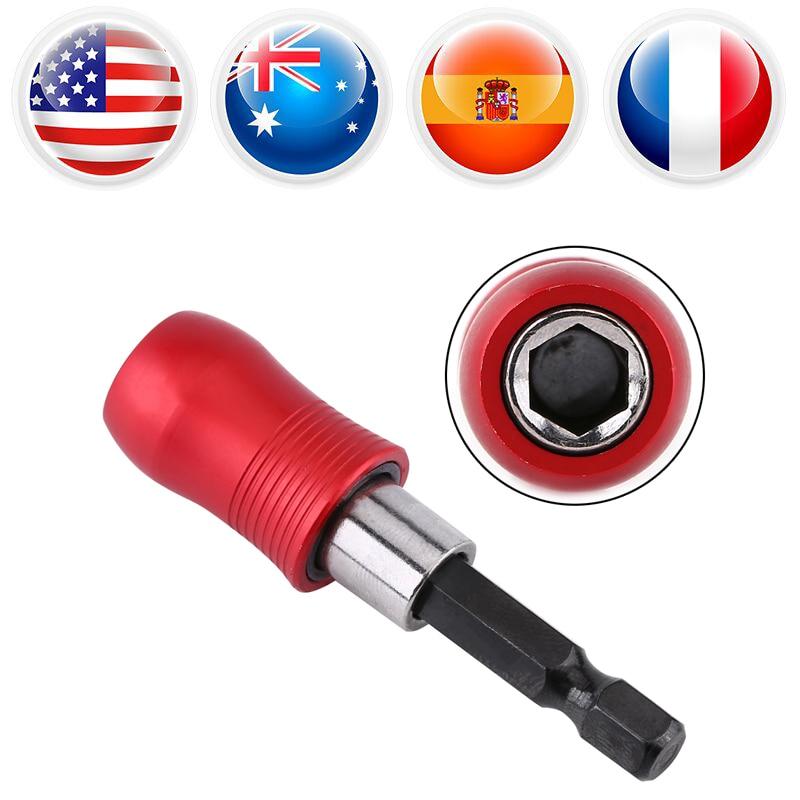 """1/4 """"hex Shank Magnetic Bit Houder Extension Bar Voor Elektrische Boor Schroevendraaier Lengte 60mm Destornillador Zeshoekige Cacciavite"""