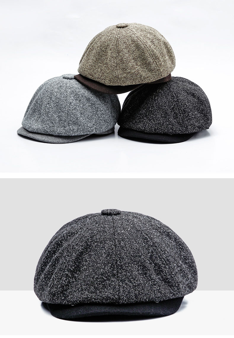 [AETRENDS] 18 Winter Vintage British Style Octagonal Cap Men Women Hat Octagonal Hats Sombrero Cappello Newsboy Cap Z-6611 5