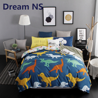 Dream NS Dinosaur Design Bedding Set Soft Polyester Cotton Geometric Patterns Design Bed Sheets Duvet Cover