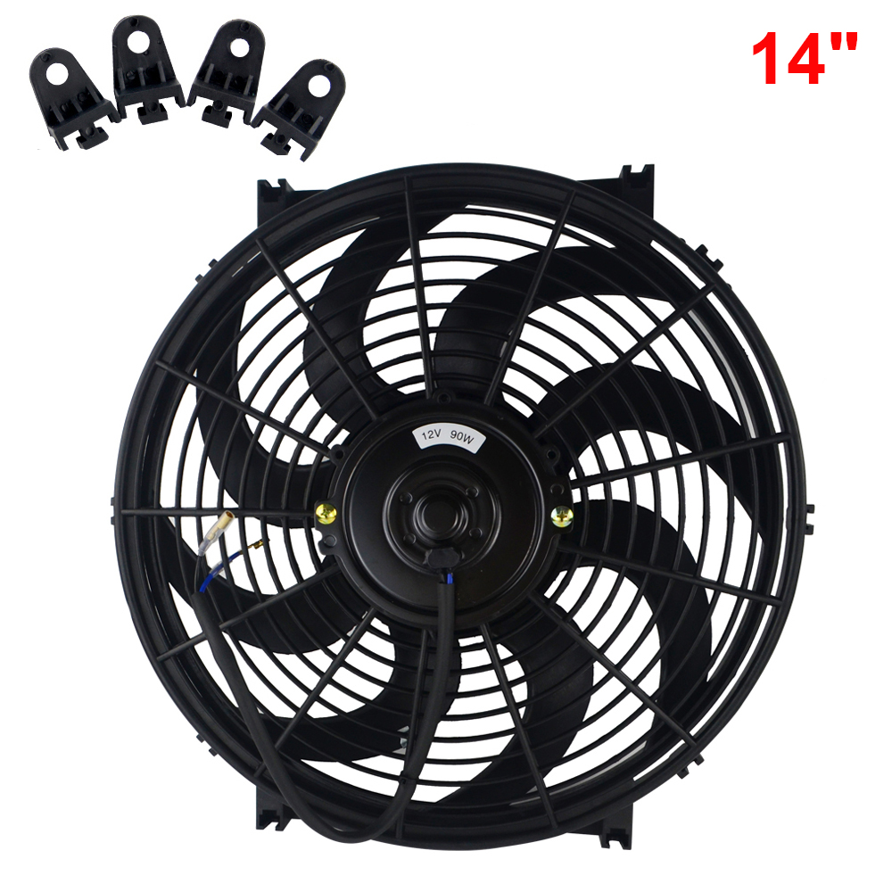 10 Inch With Fitting Kit Universal Slim Electric Radiator Fan 8 9 10 12 14 Inch Push or Pull Air