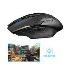 TeckNet Ergonomic Mice Professional Optical Computer 2.4GHz Wireless Gaming Mouse with Nano Receiver 8 Buttons 4000DPI Advanced