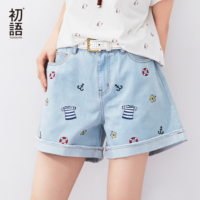 Online Buy Wholesale loose jean shorts from China loose jean ...
