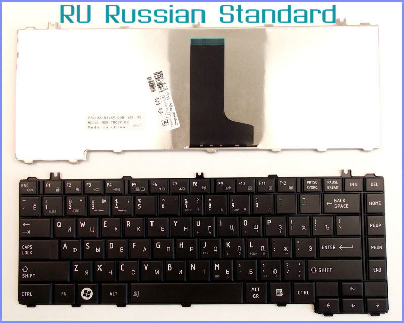Russian RU Version Keyboard for Toshiba Satellite L645D-S4030 L645D-S4053 L635-S3015 L635-SP3160 L640-BT2N13 Laptop