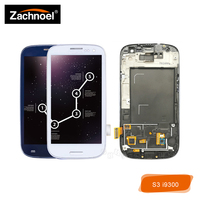For Samsung Galaxy S III S3 i9300 i9300i i9301 i9301i i9305 LCD Display with Touch Screen Digitizer with Frame Assembly