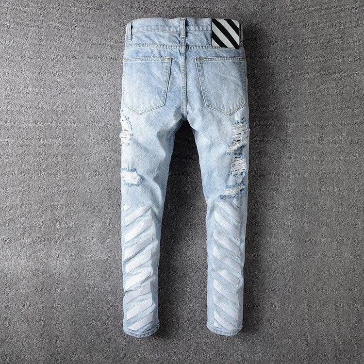 2017 High Quality font b Men b font font b Jeans b font Off White New