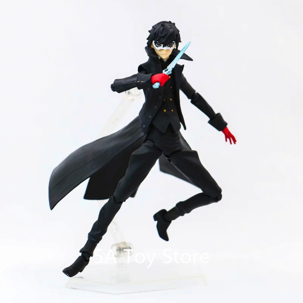 Anime P5 Persona 5 joker Figure PVC Action Figure Collectible Model Toy Doll Brinquedos 12CM kasumigaoka utaha swimwear sexy toy figure saekano anime action figures pvc girl doll model brinquedos boys gift desktop decor