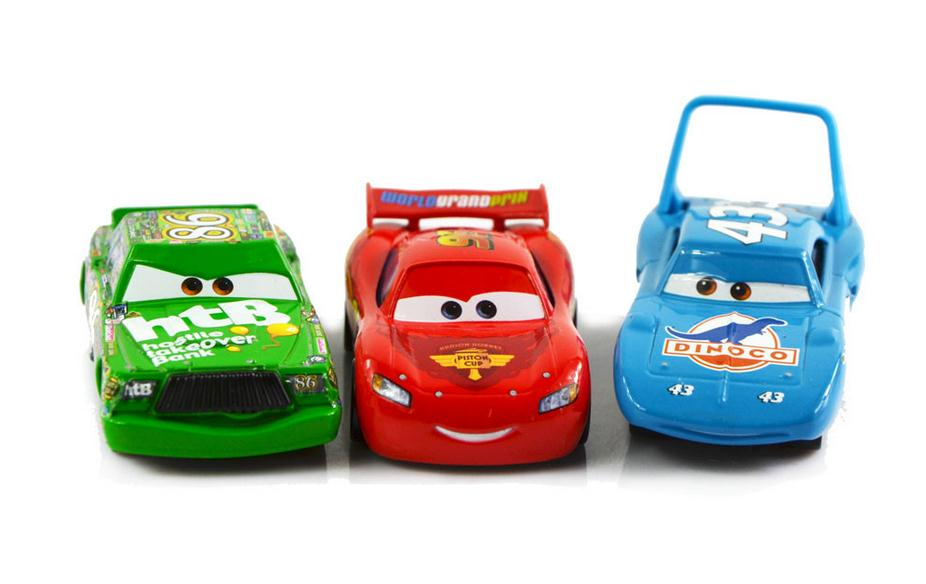3pcs set 100 original disney cars 2 diecast models vehicles kids toys car for