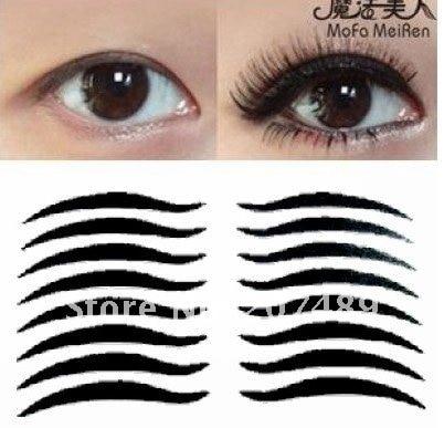 16PC/PACK black stripe make up eyeliner  Smoky beauty whcn+