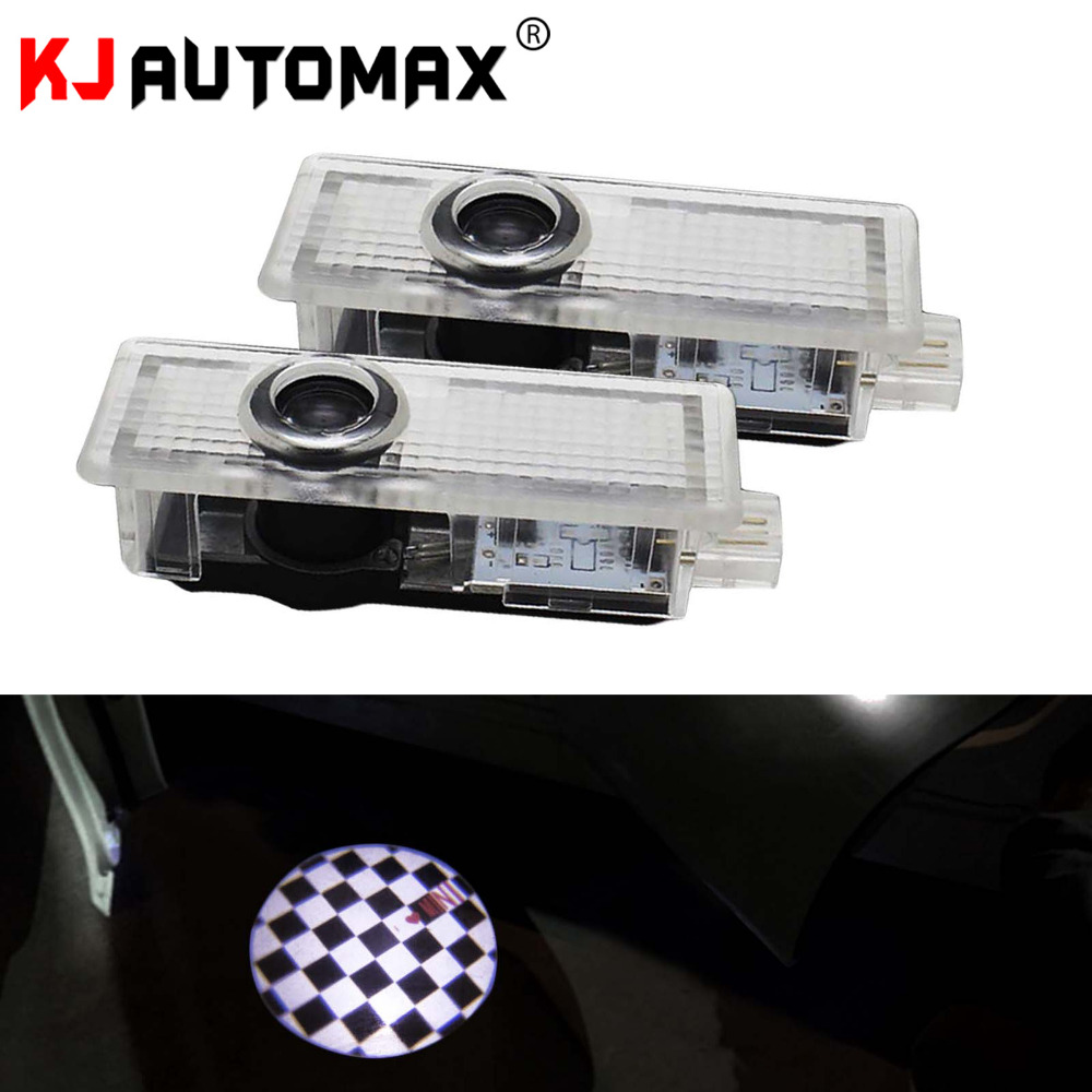 Checker Welcom lights butterfly For Mini Cooper R55 R56 R60 R61 R52 R50 countryman clubman Courtesy Step LED laser lights