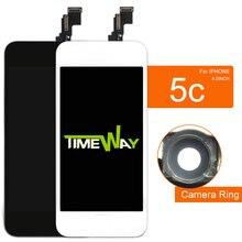 10 шт. AAA   lcd для iPhone 5 5S 5C экран с сенсорным дигитайзером в сборе с держателем камеры дисплей для iPhone 5 5S 5C lcd