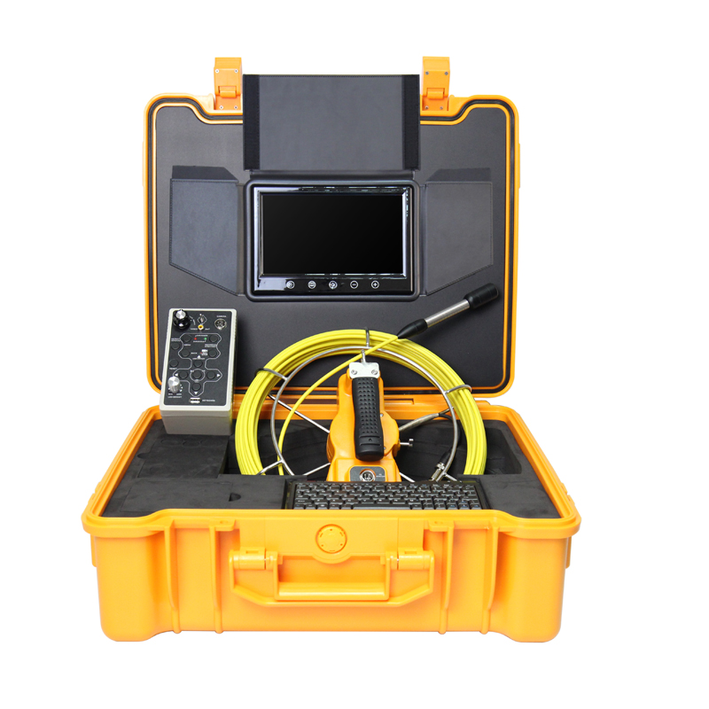 40m Cable Fiber Glass 9''  LCD Waterproof Pipe Sewer Inspection Camera DVR Endoscope Snake Camera 20m cable fiber glass 7 tft lcd waterproof pipe sewer inspection camera ccd600tvl with meter accounter endoscope snake camera