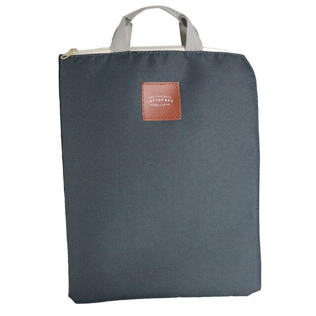 New A4 Canvas Tote Bag File Folder Doent Organizer Portable Zipper Laptop Briefcase