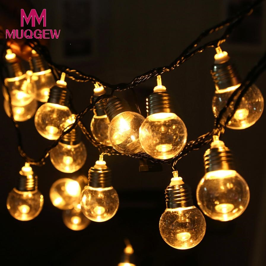 2018 Creactive Led Light Bulb Ball String Fairy Lights Bedroom Xmas Wedding Party Diy Home Decoration Accessories In Decorations From