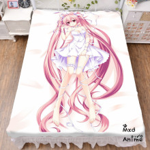 Japanese Anime Hatsune Miku Snow Bed sheet Throw Blanket Bedding Coverlet Cosplay Gifts Flat Sheet cd030
