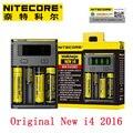 Nitecore Original Novo I4 Intellicharger I2 Novo Carregador Universal para 18650 18350 26650 RCR123A Li-ion Bateria com Código de Segurança