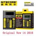 Original Nitecore Nueva I2 Nuevo I4 Intellicharger Cargador Universal para 18650 18350 26650 RCR123A Li-ion con Código de Seguridad